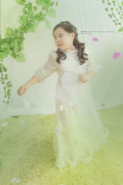 Children's antique flower Girl dress
